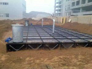 underground BDF water storage tank